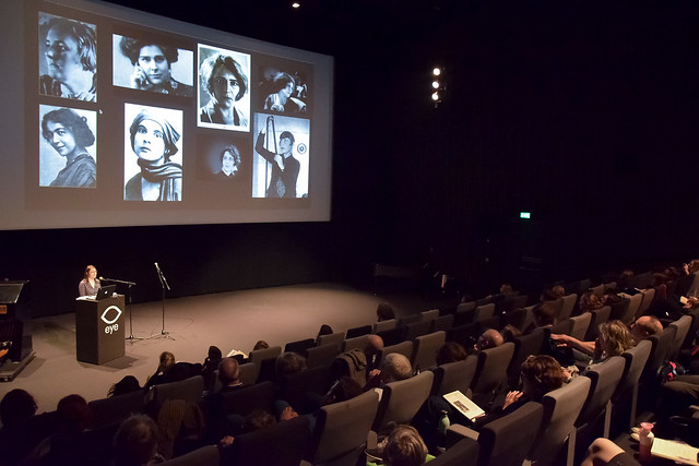 Adelheid Heftberger at Women and the Silent Screen 2019, Amsterdam. Photo by Ben Solovey