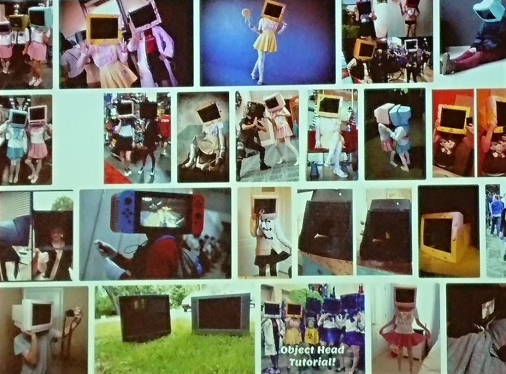 "Examples of ""object heads"" from Erkki Huhtamo's keynote address."